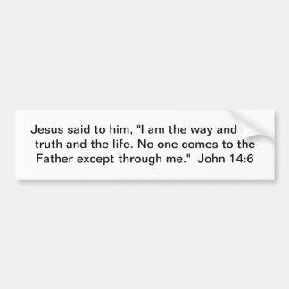 Pegatina Para Coche La manera, la verdad, y la vida