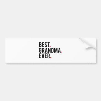 Pegatina Para Coche la mejor abuela nunca, arte de la palabra, diseño