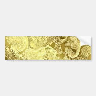 Pegatina Para Coche La moda brillante de oro del modelo raya el