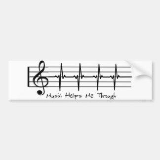 Pegatina Para Coche La música me ayuda a través