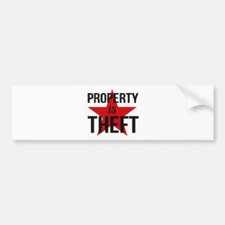 Pegatina Para Coche La propiedad es hurto - comunista socialista del