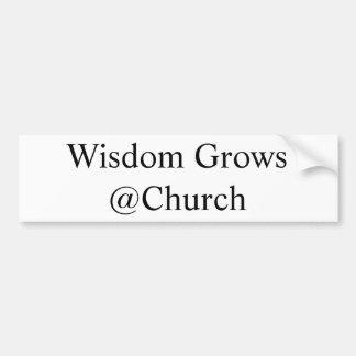 Pegatina Para Coche La sabiduría crece el @Church