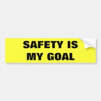 Pegatina Para Coche La seguridad es mi camión del negocio de la meta