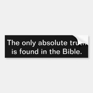 Pegatina Para Coche La única verdad absoluta se encuentra en la biblia