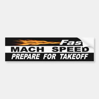 Pegatina Para Coche La velocidad rápida del Mach se prepara para el