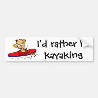 Pegatina Para Coche Labrador retriever amarillo divertido Kayaking