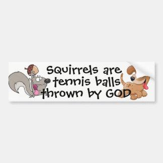 Pegatina Para Coche Las ardillas son pelotas de tenis…