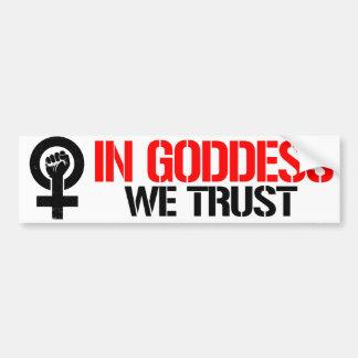 Pegatina Para Coche Las feministas se oponen - en diosa que confiamos