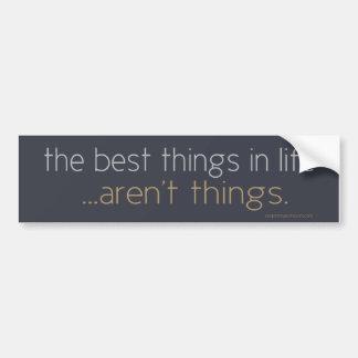 Pegatina Para Coche Las mejores cosas de la vida