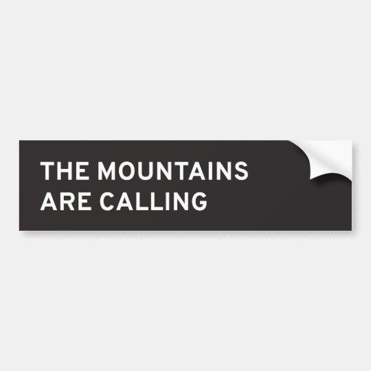 Pegatina Para Coche Las montañas están llamando