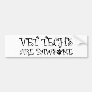 Pegatina Para Coche Las tecnologías del veterinario son Pawsome
