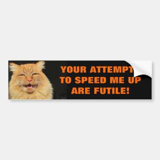 Pegatina Para Coche Las tentativas de Tailgaters son gato vano Meme