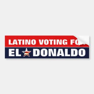 Pegatina Para Coche Latino que vota por Donald Trump