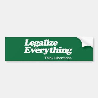 Pegatina Para Coche Legalice todo piensan el palillo de parachoques