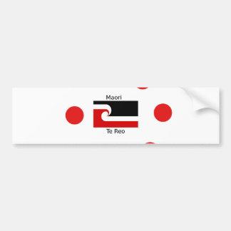 Pegatina Para Coche Lengua de Te Reo y diseño maorí de la bandera