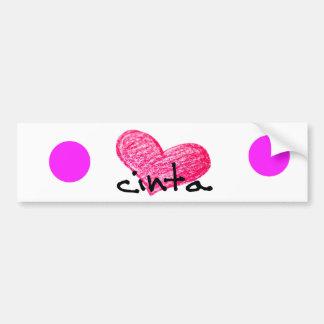 Pegatina Para Coche Lengua del Malay del diseño del amor