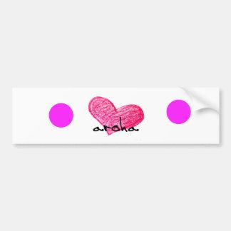 Pegatina Para Coche Lengua maorí del diseño del amor
