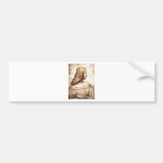 Pegatina Para Coche Leonardo da Vinci - pintura de Isabel D'este