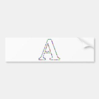 Pegatina Para Coche Letra A de la estrella del arco iris