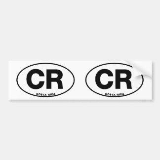 Pegatina Para Coche Letras internacionales ovales de la identidad del