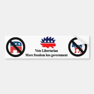 Pegatina Para Coche Libertario del voto