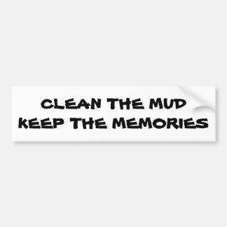 Pegatina Para Coche Limpie el fango guardan las memorias