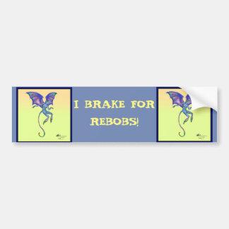 Pegatina Para Coche Lindo azul púrpura con alas amarillo de Rebob Napa