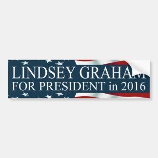 Pegatina Para Coche Lindsey Graham para el presidente en 2016