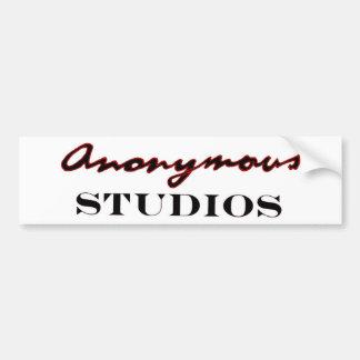 Pegatina Para Coche Logotipo anónimo de los estudios