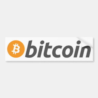 Pegatina Para Coche Logotipo de Bitcoin + texto