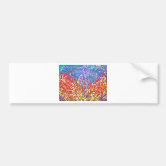 Pegatina Para Coche Lona de pintura colorida del prado abstracto de