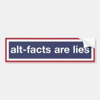 Pegatina Para Coche Los Alt-hechos son mentiras