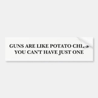 Pegatina Para Coche Los armas son como las patatas fritas