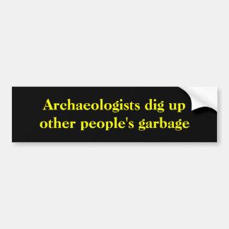Pegatina Para Coche Los arqueólogos desentierran la basura de la otra