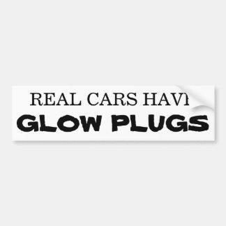 Pegatina Para Coche Los coches reales tienen ENCHUFES de RESPLANDOR