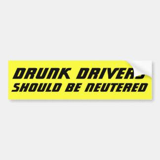 Pegatina Para Coche Los conductores borrachos deben SER intrépidos