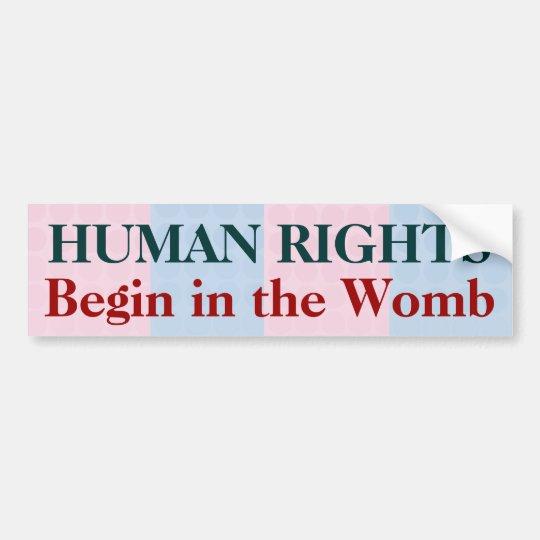 Pegatina Para Coche Los derechos humanos comienzan en la matriz