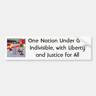 Pegatina Para Coche Los E.E.U.U. y banderas del orgullo hechas de