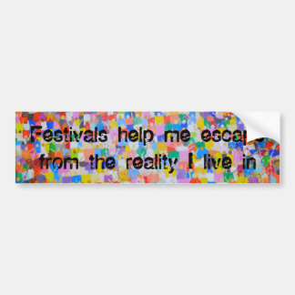 Pegatina Para Coche Los festivales me ayudan a escaparme