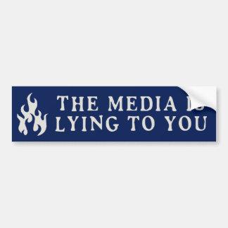 Pegatina Para Coche Los medios están mintiendo a usted