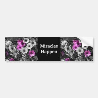 Pegatina Para Coche Los milagros suceden las margaritas púrpuras
