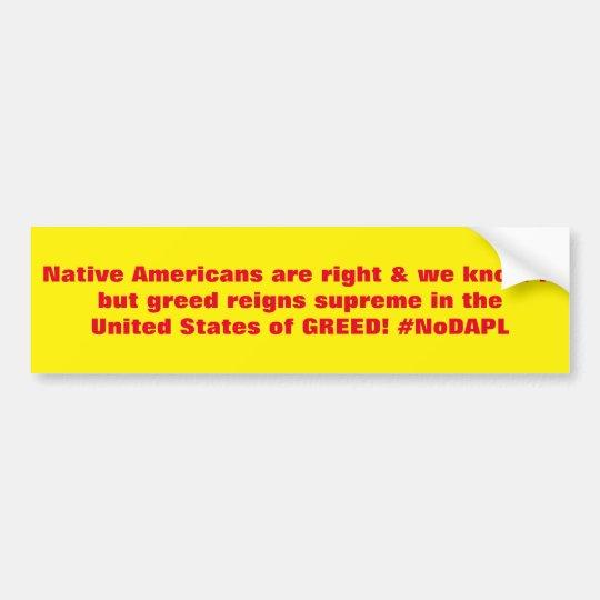 Pegatina Para Coche Los nativos americanos son #NoDAPL correcto