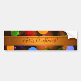 Pegatina Para Coche Luces de navidad multicoloras. Añada el texto o
