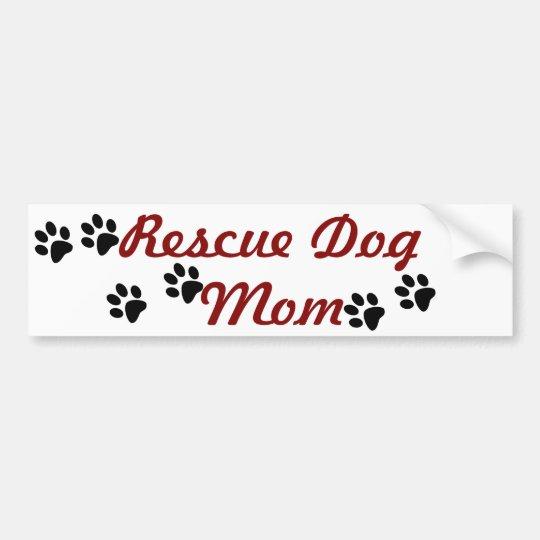 Pegatina Para Coche Mamá del perro del rescate