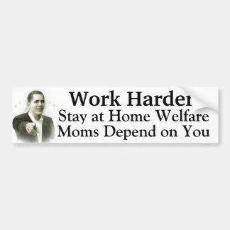 Pegatina Para Coche Mamáes caseras más duras del bienestar del trabajo