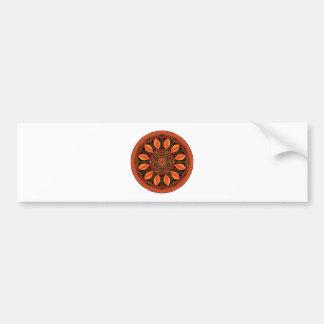 Pegatina Para Coche Mandala de color naranja de la hoja