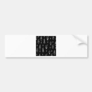 Pegatina Para Coche Mano blanco y negro del cactus de Boho dibujada