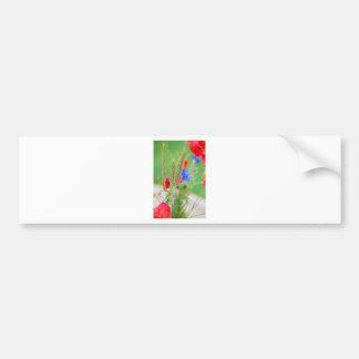 Pegatina Para Coche Manojo de amapolas, de cornflowers y de oídos