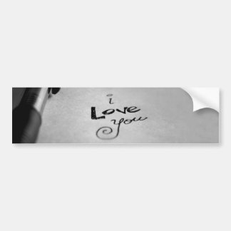Pegatina Para Coche Manuscrito te amo