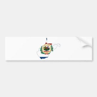 Pegatina Para Coche Mapa de la bandera de Virginia Occidental